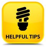 Nuttige uiteinden (bolpictogram) speciale gele vierkante knoop stock illustratie
