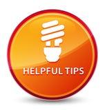 Nuttige uiteinden (bolpictogram) speciale glazige oranje ronde knoop royalty-vrije illustratie