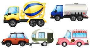 Nuttige voertuigen vector illustratie