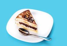 Nutty κομμάτι του κέικ στοκ φωτογραφία με δικαίωμα ελεύθερης χρήσης