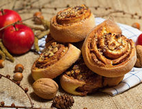 Nutty πίτα Στοκ εικόνα με δικαίωμα ελεύθερης χρήσης