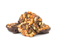 Nutty dessert in chocolate Royalty Free Stock Images