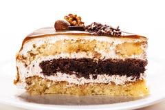 Nutty piece of cake Stock Image