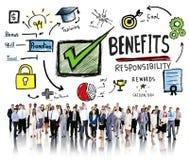 Nutzen-Gewinn-Gewinn-Einkommen-Einkommens-Geschäftsleute Konzept- stockfotos