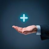 Nutzen plus Positiv Stockfotografie