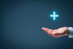 Nutzen plus Positiv stockfotos