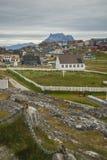 Nuuk, столица Гренландии Стоковое Изображение