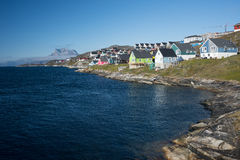 Nuuk, a capital de Gronelândia imagens de stock