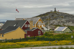 Nuuk, Capital of Greenland. Buildings of Nuuk, the Capital of Greenland Stock Photography