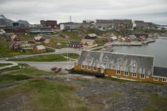 Nuuk, Capital of Greenland. Buildings of Nuuk, the Capital of Greenland Royalty Free Stock Images