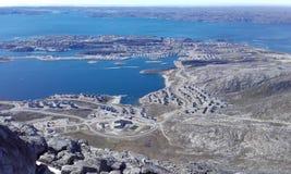 Nuuk e montanha Foto de Stock