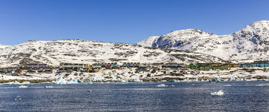 Nuuk fjord panorama Obraz Royalty Free