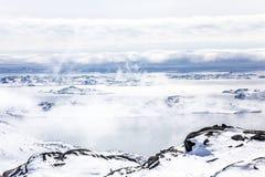 Nuuk fjord widok od sklepu Malene, Greenland Zdjęcie Stock