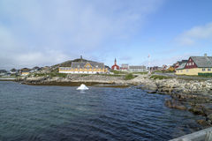 Nuuk, Greenland. Historic houses in Nuuk, capital of Greenland royalty free stock photography