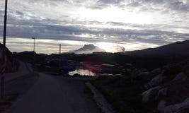 Nuuk Groenland Mooie Sermitsiaqberg Stock Foto's