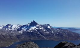 Nuuk halna natura Greenland piękny Obraz Royalty Free