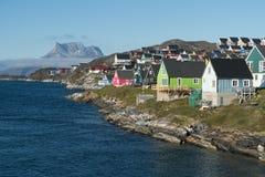 Nuuk, het kapitaal van Groenland royalty-vrije stock foto