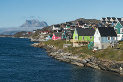 Nuuk huvudstaden av Grönland Royaltyfri Foto