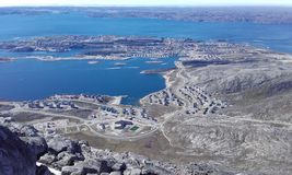 Nuuk i góra Zdjęcie Stock
