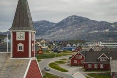 Nuuk, Kapitaal van Groenland Stock Foto's