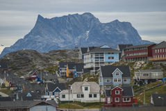 Nuuk, Kapitaal van Groenland Royalty-vrije Stock Foto's