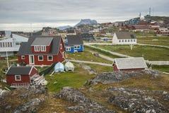 Nuuk, Kapitaal van Groenland royalty-vrije stock foto