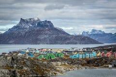 Nuuk miasta krajobraz Zdjęcia Royalty Free