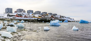 Nuuk old harbor view. Greenland Royalty Free Stock Photography