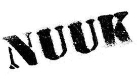 Nuuk znaczka gumy grunge Fotografia Royalty Free