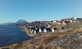 Nuukhuis sermitsiaq Royalty-vrije Stock Fotografie