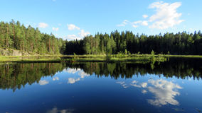 Nuuksio lake reflection Stock Photo