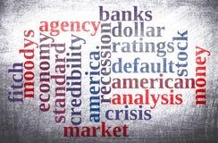 Nuvem americana da palavra da economia Imagens de Stock Royalty Free