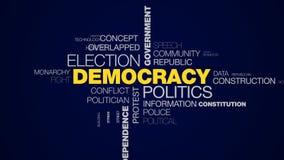 Nuvem animado de votação da palavra do candidato da independência do debate da cédula do presidente da liberdade do governo da el ilustração stock