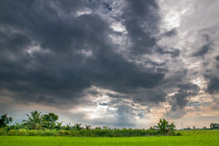Nuvem azul, cor Imagem de Stock