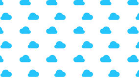 Nuvem azul de fluxo no fundo branco com canal alfa Animação do laço ilustração do vetor