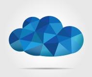 Nuvem azul do vetor do mosaico Foto de Stock Royalty Free
