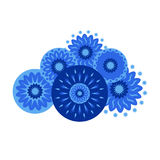 Nuvem azul em um fundo branco Imagem de Stock Royalty Free