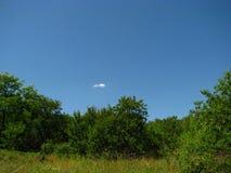 Nuvem azul, verde e só Fotografia de Stock