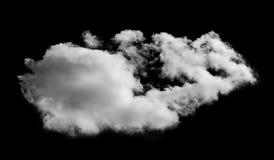 Nuvem branca céu preto isolado do fundo Imagem de Stock