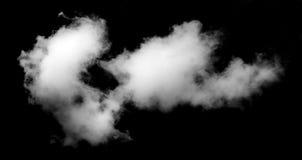 Nuvem branca preto isolado Fotografia de Stock Royalty Free