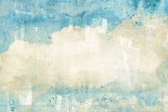 Nuvem, céu pintado em uma parede foto de stock royalty free