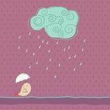 Nuvem chuvosa ilustração do vetor