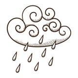 Nuvem chuvosa Imagens de Stock Royalty Free