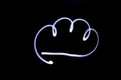 Nuvem clara da pintura Imagens de Stock