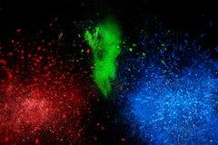 Nuvem colorida da explosão do pó ilustração do vetor