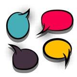 Nuvem colorida do texto do grupo desenhos animados vazios cômicos Fotos de Stock