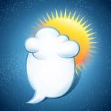 Nuvem com mensagem Imagens de Stock Royalty Free