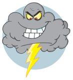 Nuvem com thunderbolt Imagens de Stock