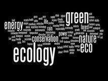 Nuvem conceptual da palavra da ecologia isolada Foto de Stock Royalty Free