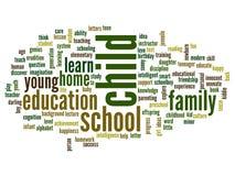Nuvem conceptual da palavra da educação Fotos de Stock Royalty Free